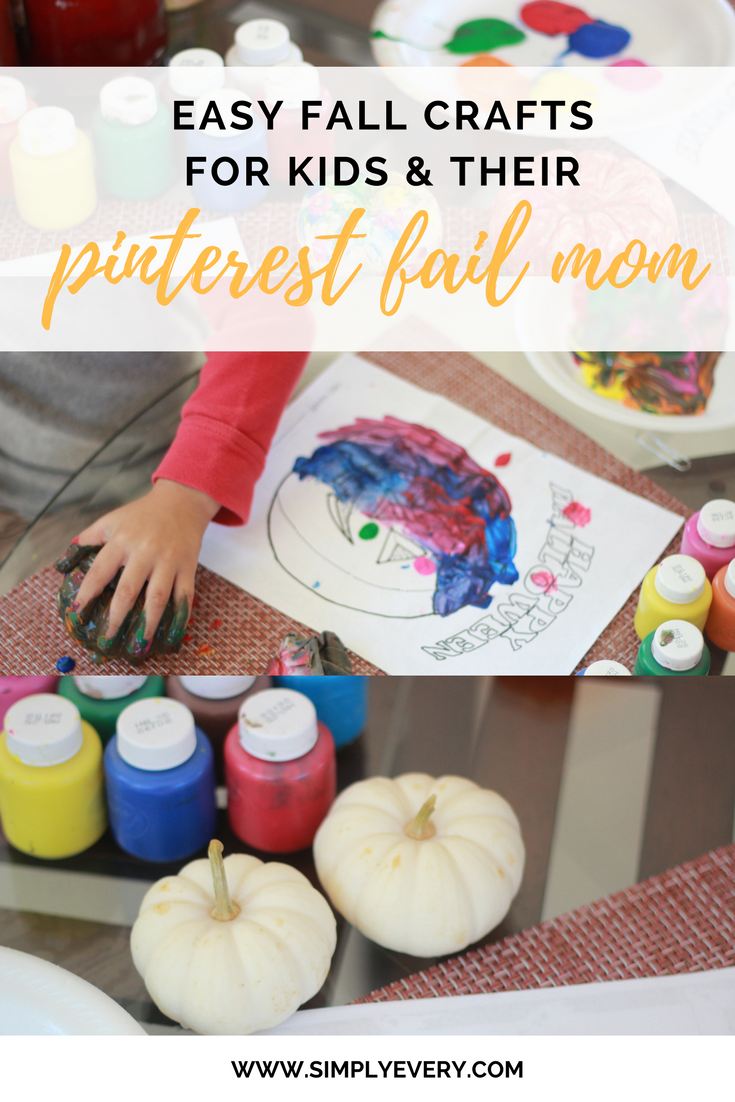 Fall Crafts for Kids & Their Pinterest Fail Mom