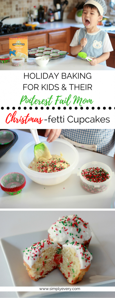 Holiday Baking for Pinterest Fail Moms: Christmas-fetti Cupcakes