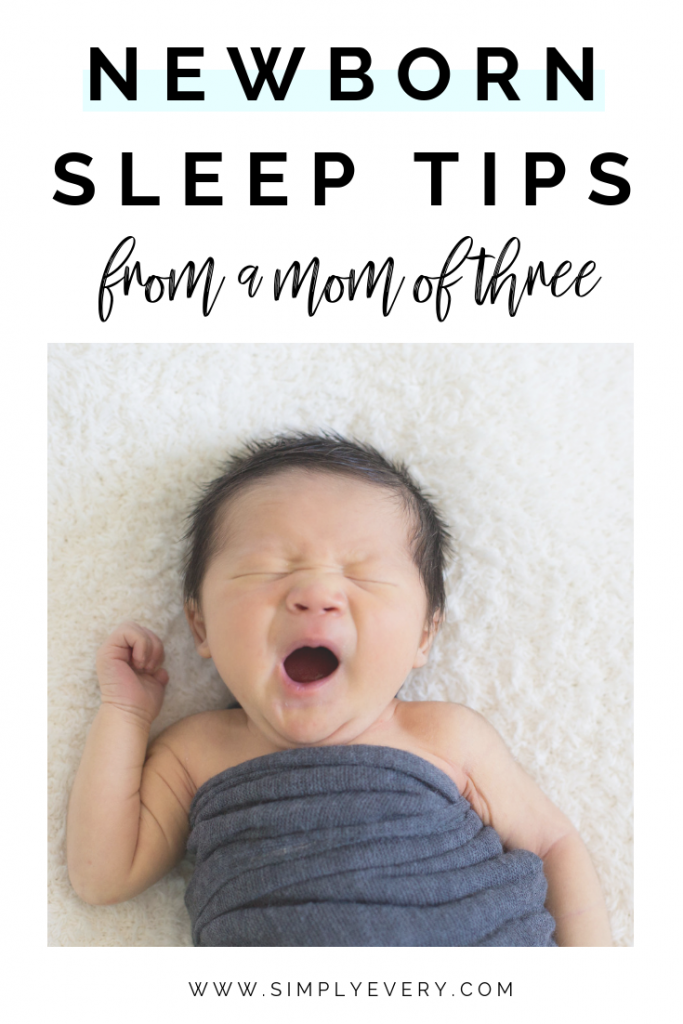 newborn sleep tips from a third time mom