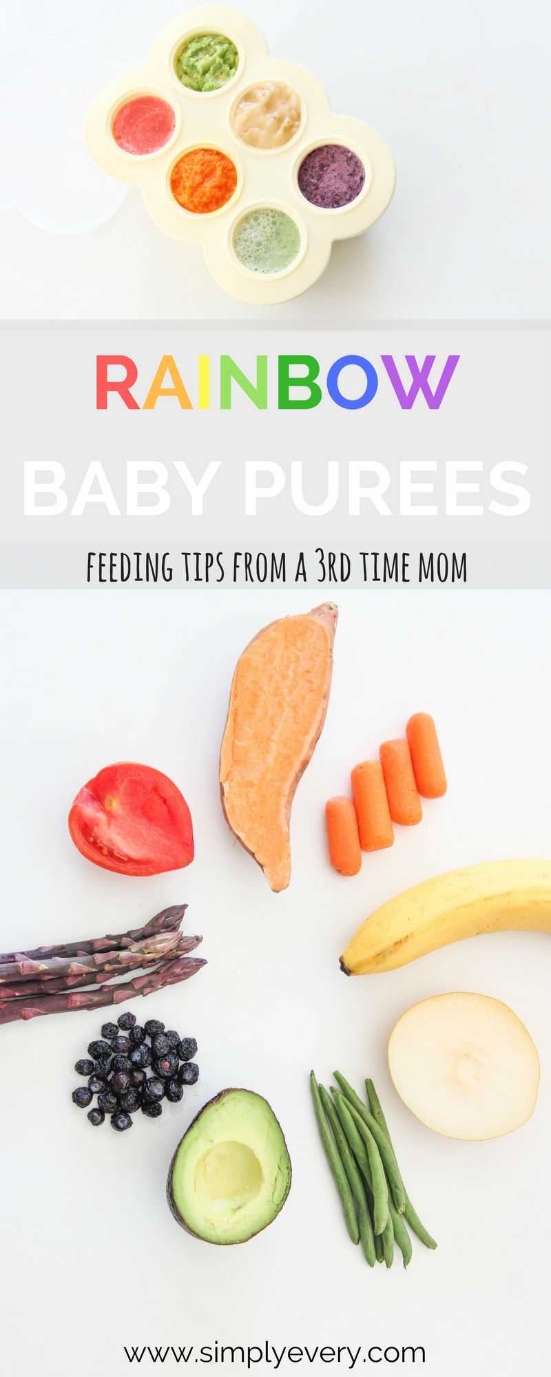 Rainbow Baby Purees & Feeding Tips from A Third Time Mom