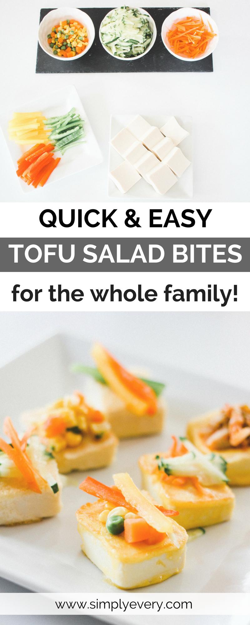 Quick and Easy Tofu Salad Bites