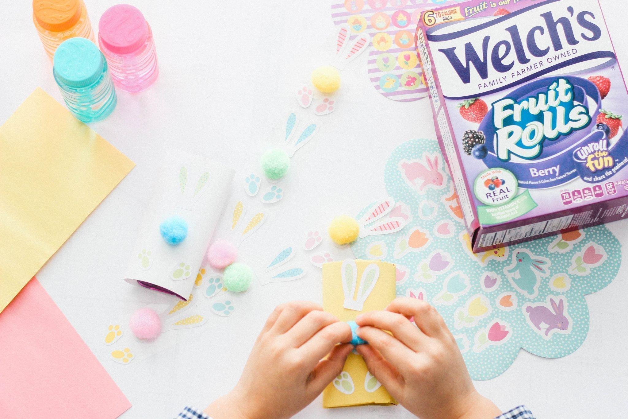 Easy & Fun Fruit Roll Bunny Craft with Welch's®