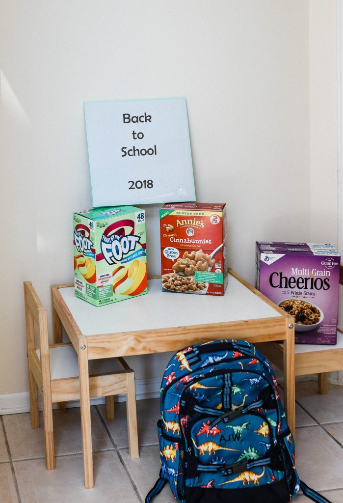 Morning Routine for Kindergartners snacks and cereals