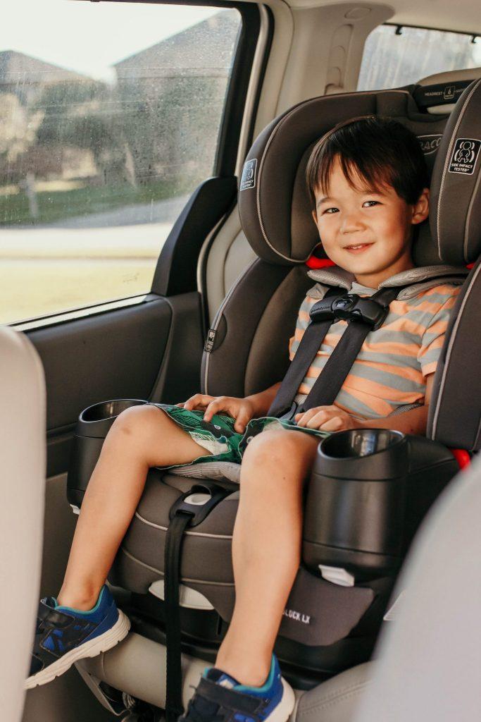 C in his forward facing car seat