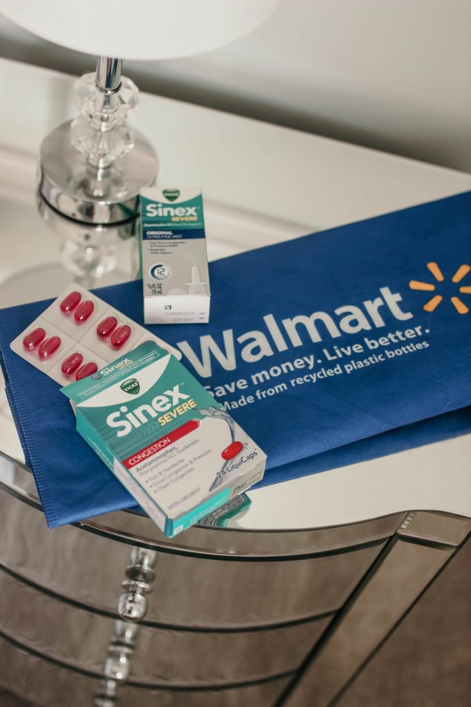 sinex and walmart  are keeping you healthy in How to Survive Cold & Flu Season As a Work at Home Mom