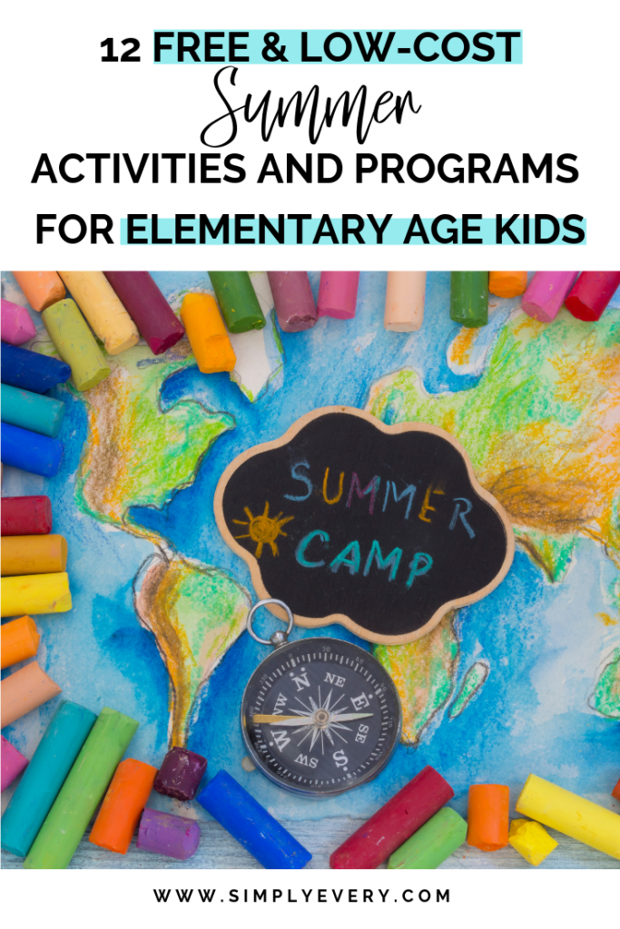 Twelve Free and Low-Cost Summer Activities for Elementary Age Kids