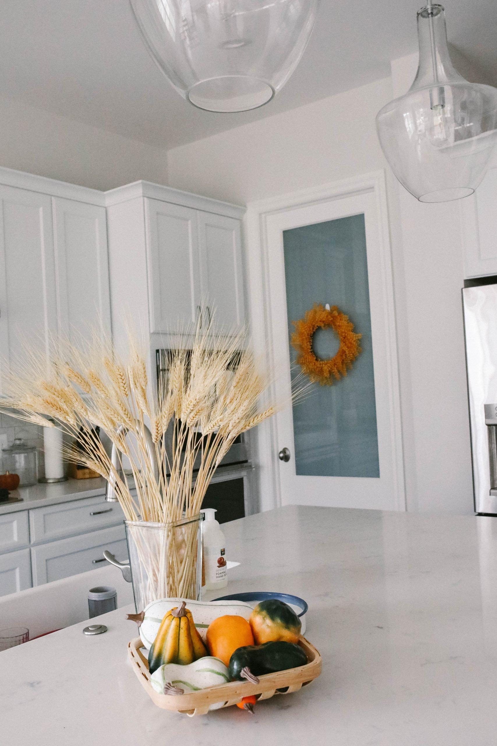 fall home decor counter top