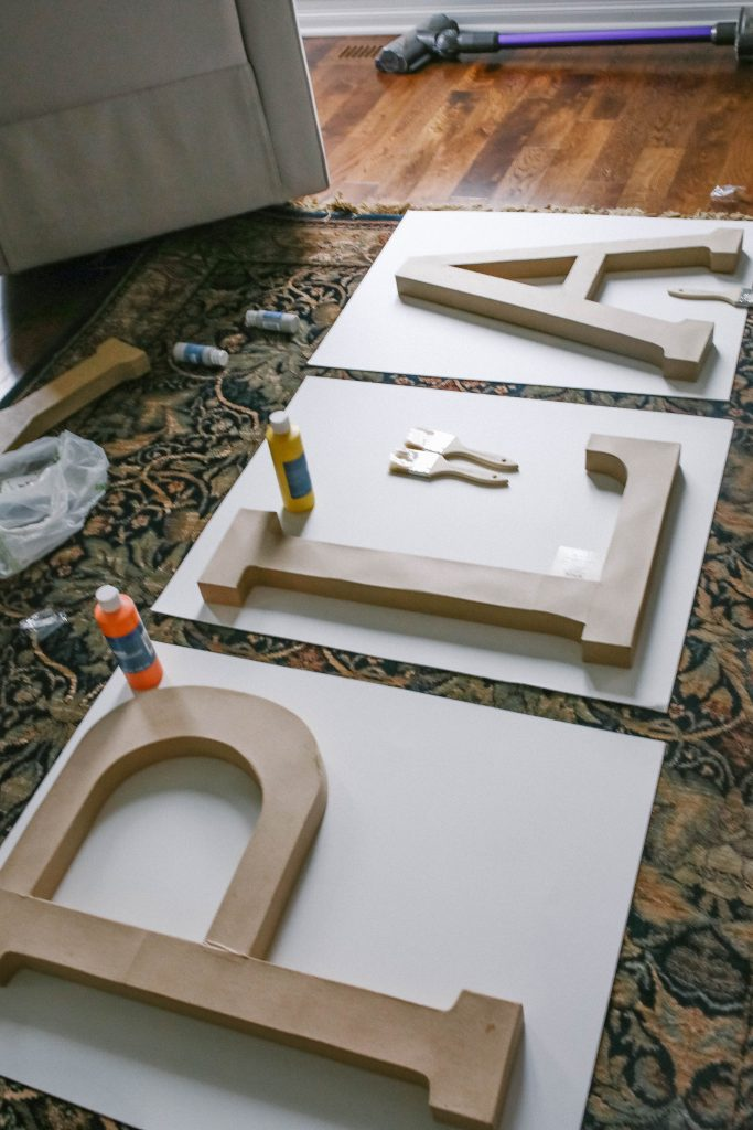 EASY DIY WALL ART PROJECT FOR PLAY ROOM