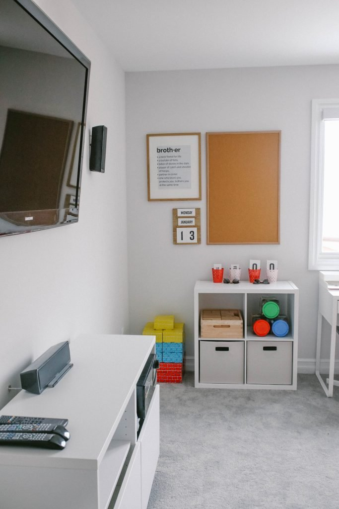 IKEA INSPIRED BRIGHT WHITE MODERN PLAY ROOM
