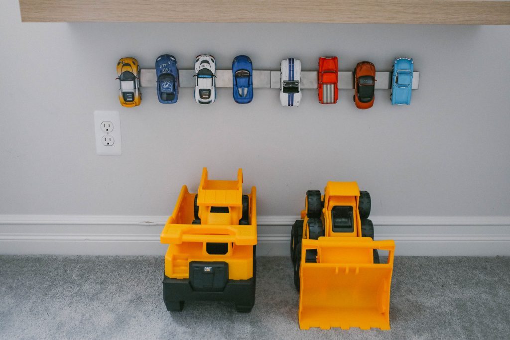 DIY Easy Toy Car Storage Display Idea